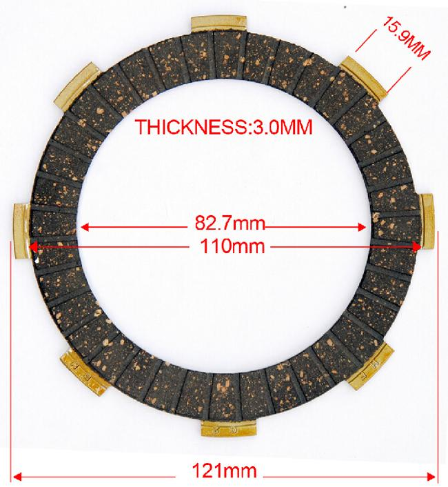 50Nm HONDA Motorcycle Clutch Plate CG200 Paper Based / Rubber Material