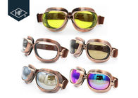 China Copper Yellow Frame Aftermarket Motorcycle Accessories Metal Sunglasses factory