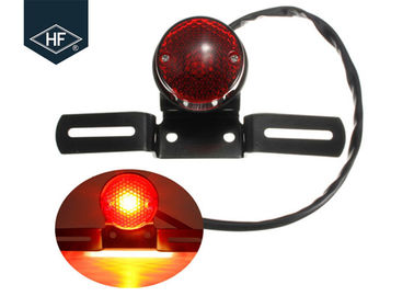 Round Black Amber Metal Aftermarket Motorcycle Lights For ATV Dirt Bike Cafe Racer