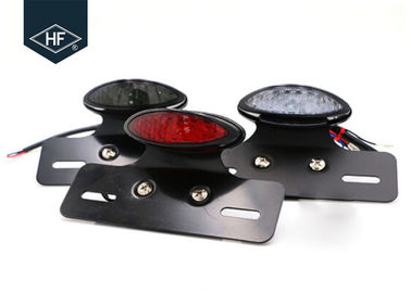 Smoke / Red / Red Lens Led Indicator Lights For Motorcycles Metal Material