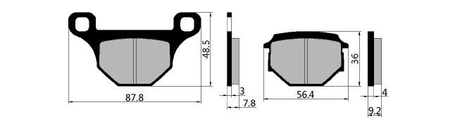 Semi Metallic Motorcycle Brake Pads For SUZUKI GS125 Abrasion Resistance